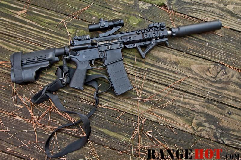 Bpm 300 Blk Pistol And Aac Sr 7 Silencer