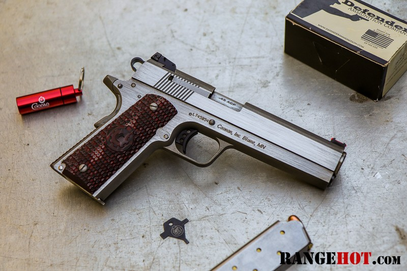 Coonan  45 Automatic, that is not a typo - Range Hot