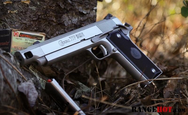 Coonan  357 Magnum Automatic, compensated  Better got better
