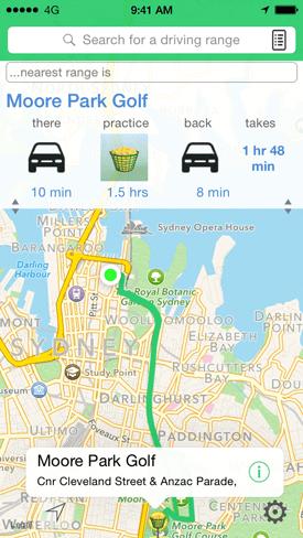 iGo2Range Australian golf practice driving range directory app