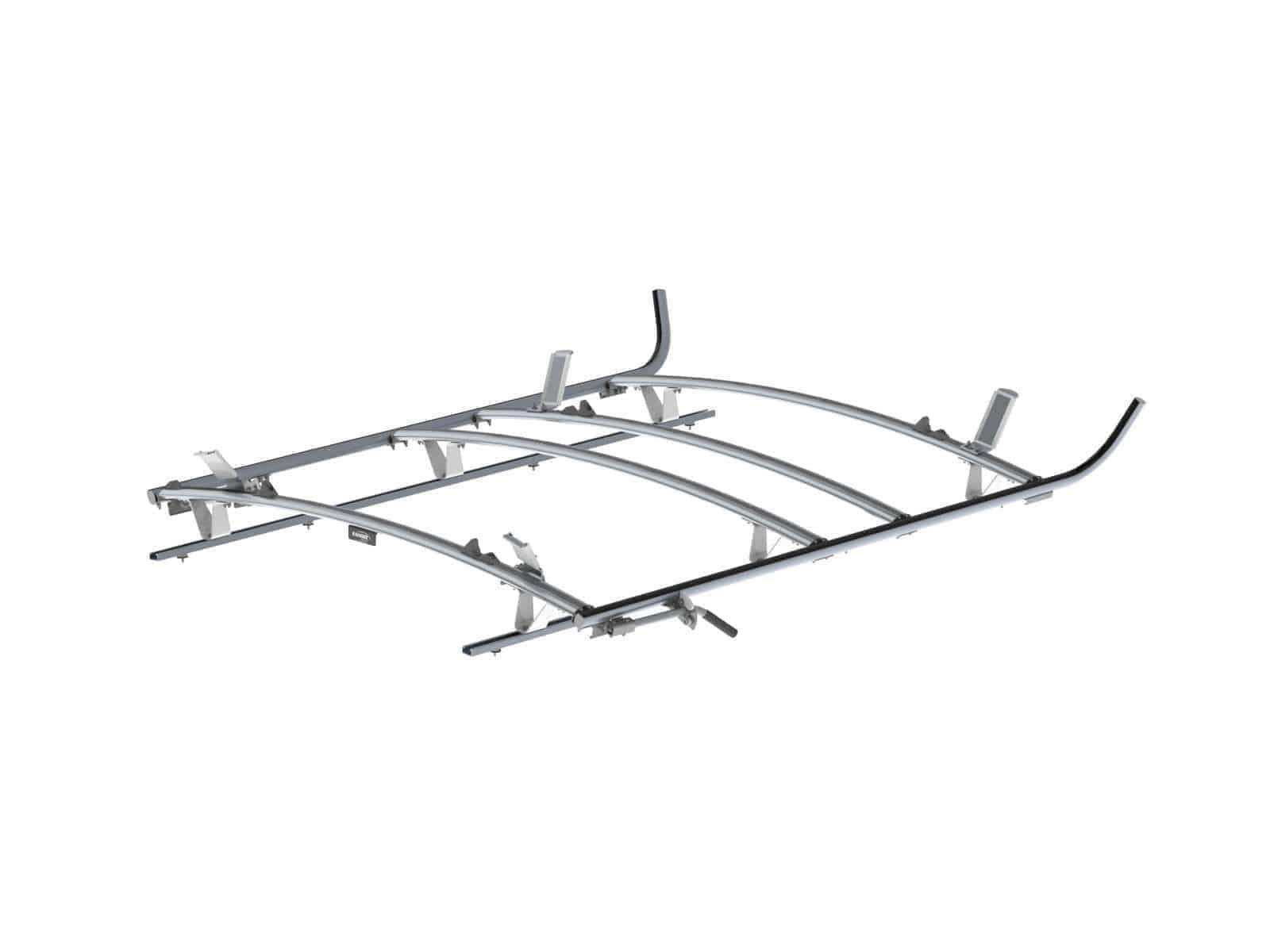 Combination Ladder Rack Aluminum 3 Bar Ford Transit Lwb