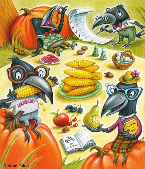 Crow Art by Debbie Palen