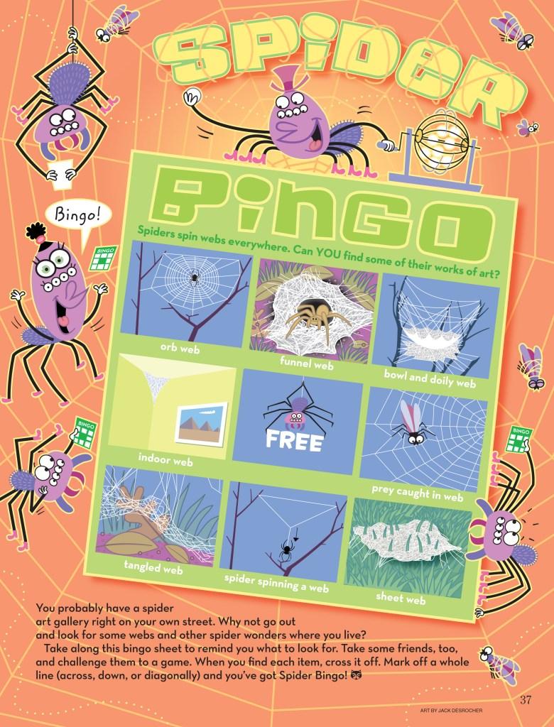 spider bingo by Jack Desrocher