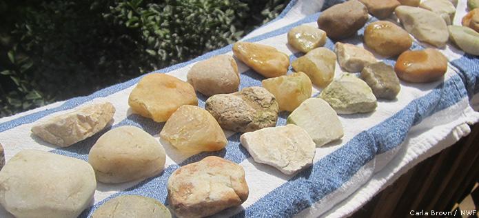 Drying rocks