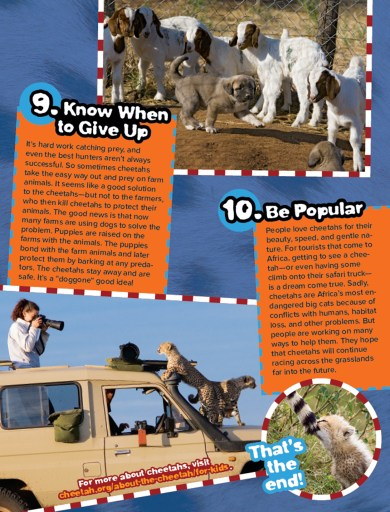 Ranger Rick Cheetah Tricks September 2015 4