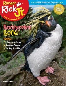 Ranger Rick Jr November 2014 Cover