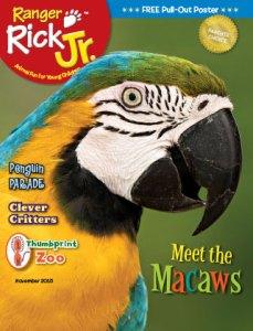 Ranger Rick Jr November 2015 Cover