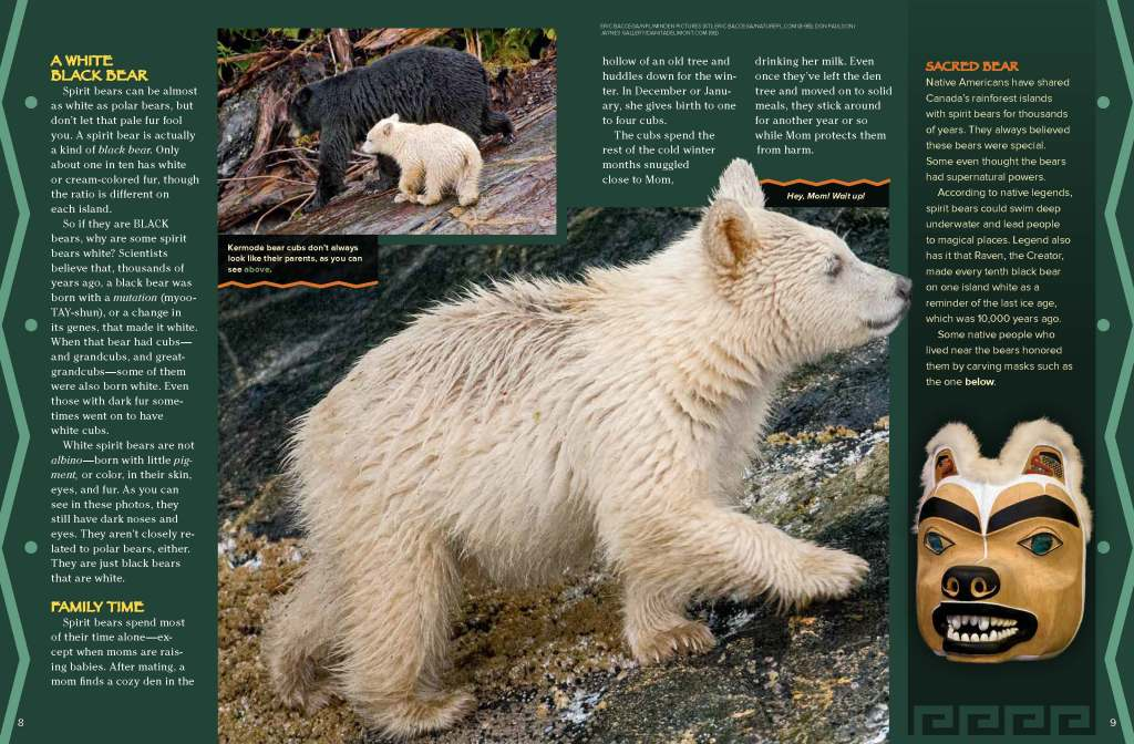 Ranger Rick Spirit Bears September 2014 2