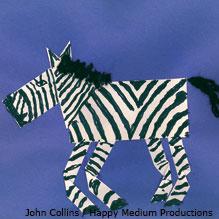 Shapely zebra