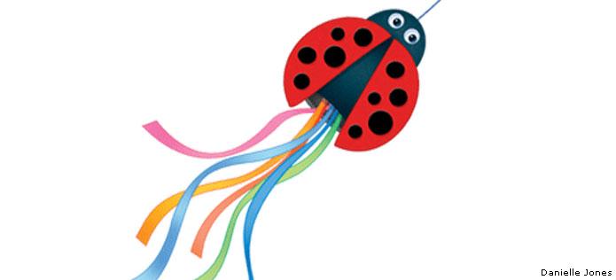 Ladybug windsock