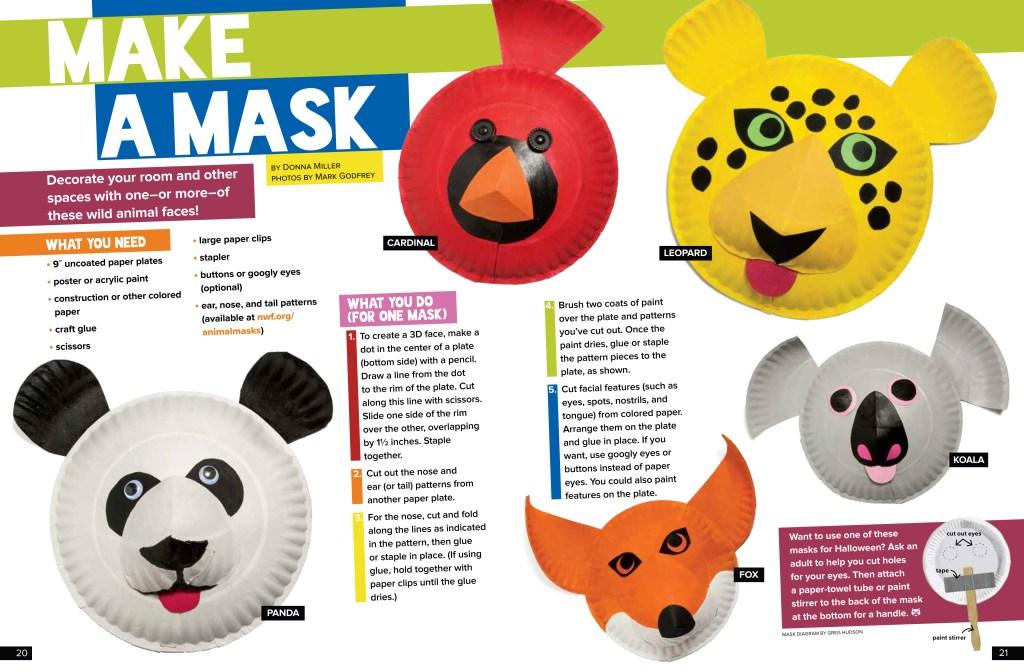 Make a Mask - October 2017 Ranger Rick
