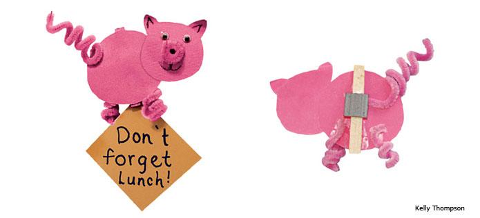 Piggy note holder