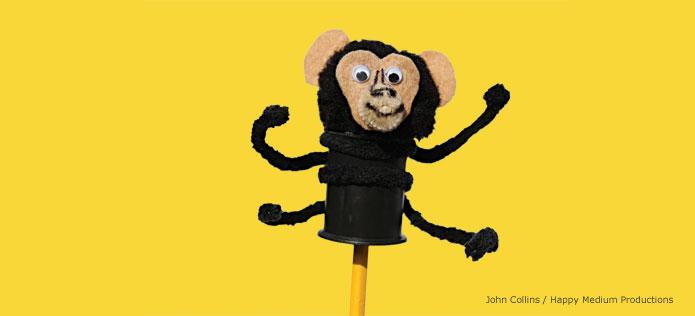 Chimpanzee pencil pal