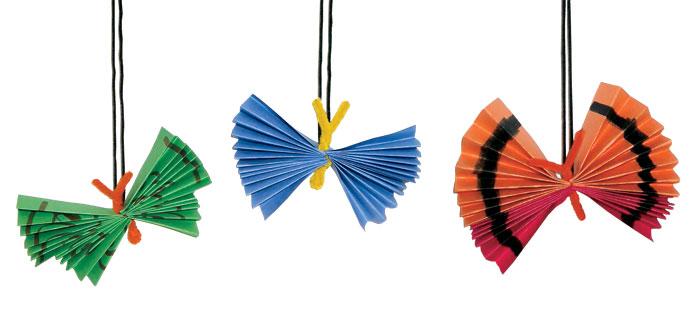 folded paper buterflies
