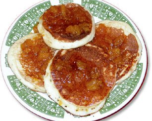 Orangey pancakes