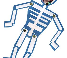 skeleton paper doll
