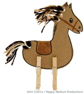 clothes pin horse