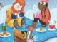 snowy picnic