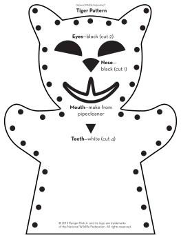 tiger puppet pattern