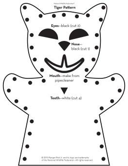 tiger puppet pattern