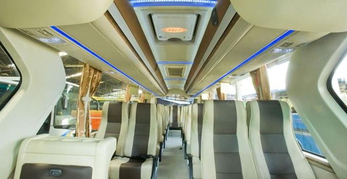 Interior Bus Pariwisata Jawa Tengah Ranggawisata