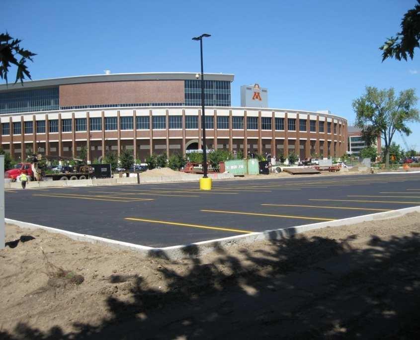 University of Minnesota Parking Lot under construction