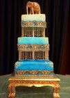 Beautiful jeweled architectural cake by Peace*Love*Dessert