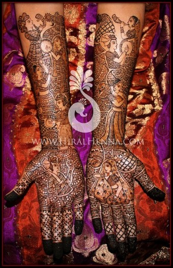 Hiral Henna, based in the San Francisco era, shows how much she learned from her tutor, Harin Dalal.