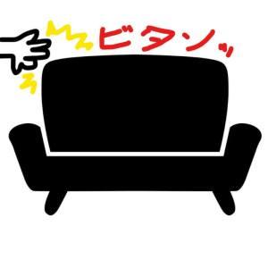 高級ソファに激しく突っ込みをいれた