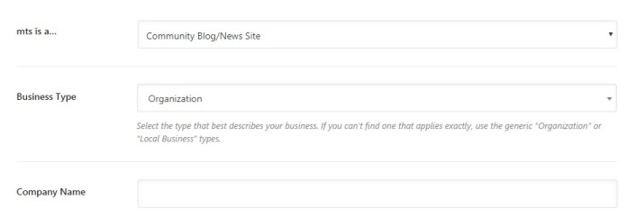 select-Community-blog-news-site-option