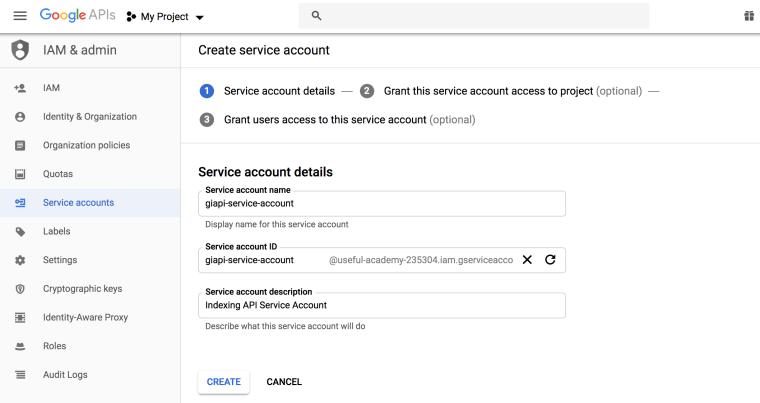 SEO技巧之利用谷歌索引API第一时间抓取新页面 4