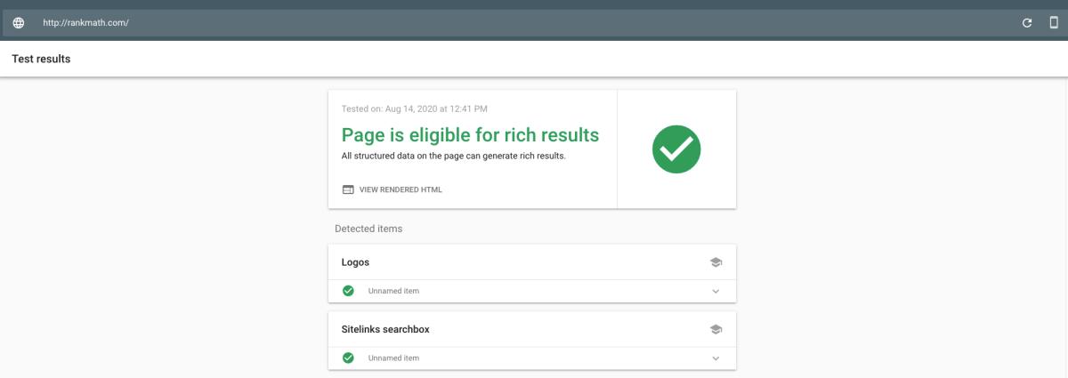 Strumento di test dei risultati multimediali di Google