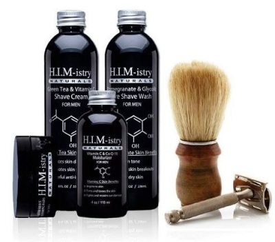 black men's hair, beard, and skin products