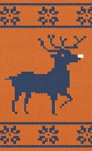 Rudolph in Christmas branded sweater design