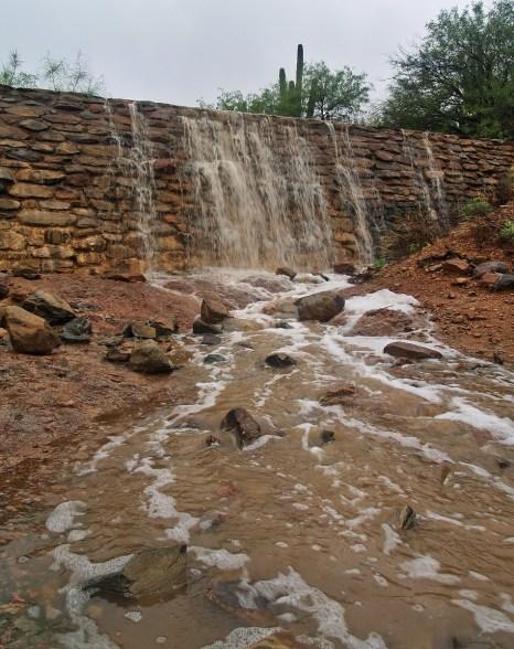 Masonry Dam overflowing