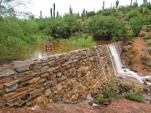 Old Masonry Dam in Fountain Hills Desert Botanical Gardens