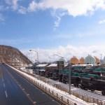 幌萌歩道橋から見た景色