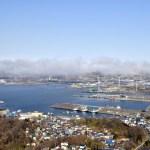 海霧を見渡せる測量山へ