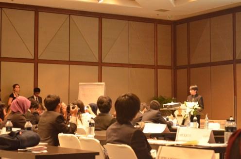 Speech dari beberapa delegates