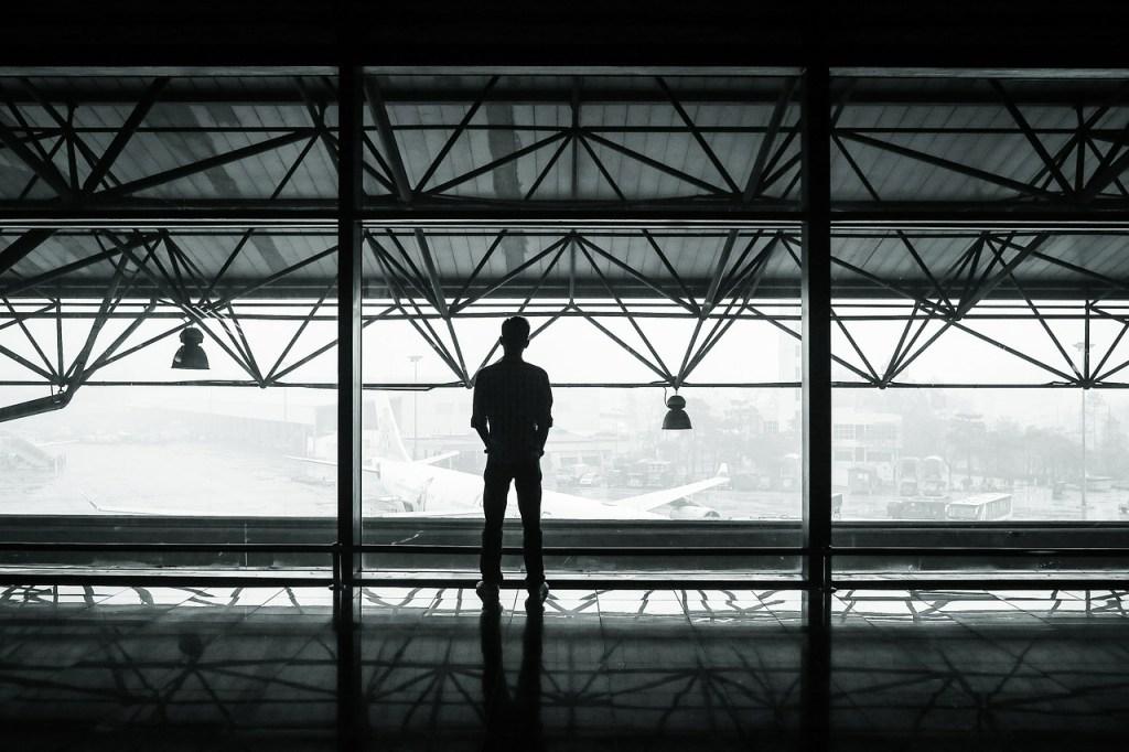 airport, passenger, waiting