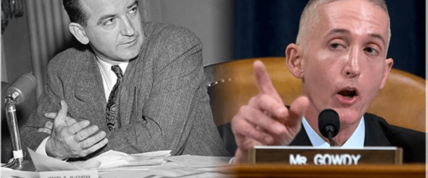 Side by side images of Joe McCarthy and Trey Gowdy