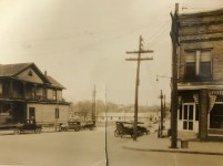 Another view of the McIvers Store and Luttlerloh buildings at Chatham and McIver streets.