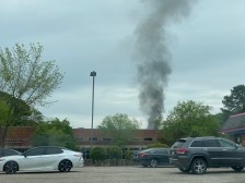 Smoke seen from the Sanford Post Office