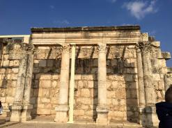A reconstruction of Christ's synagoque in Capharnaum