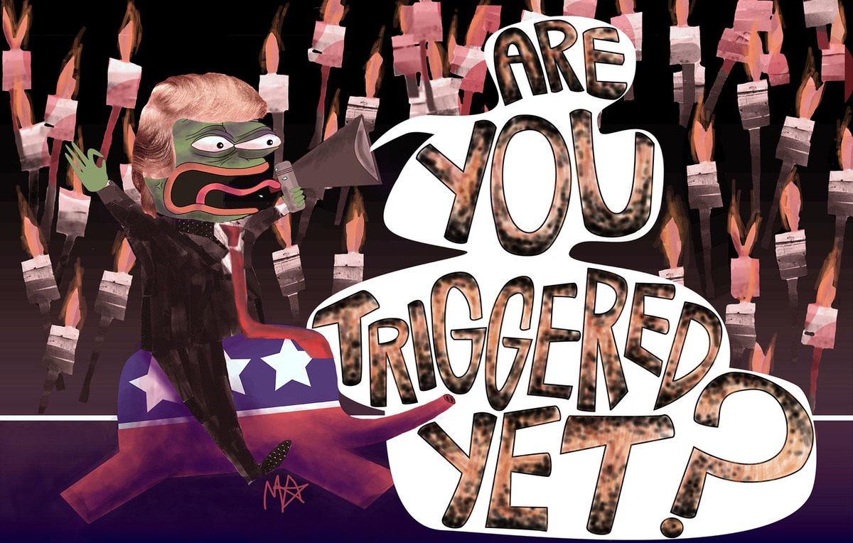 Trump cartoon by Maddie Anderson
