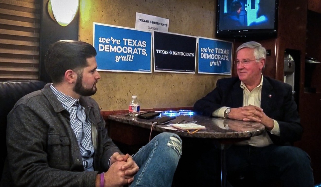 From left: Rantt's Texas Editor Matthew Reyna and Democratic Lt. Governor Candidate Mike Collier