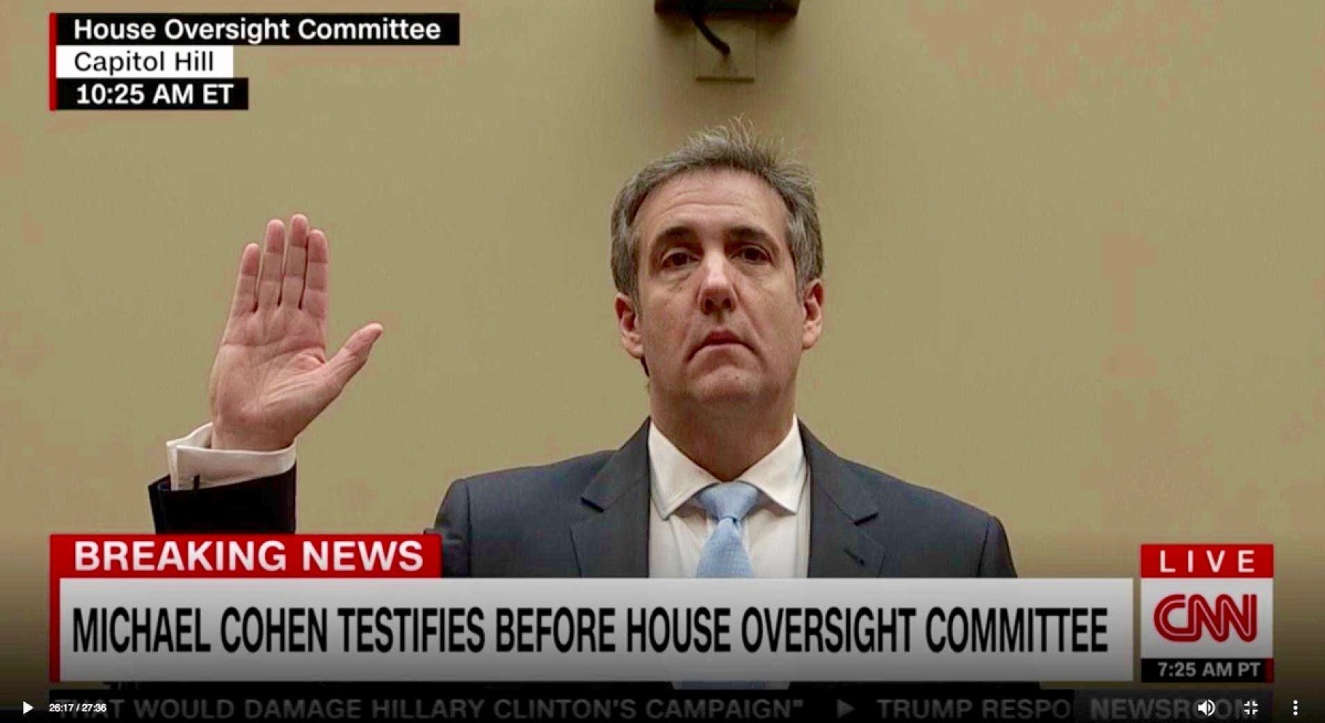 Trump's former personal lawyer Michael Cohen. He was also the former RNC Deputy Finance Chairman and a Trump Organization Executive - February 27, 2019