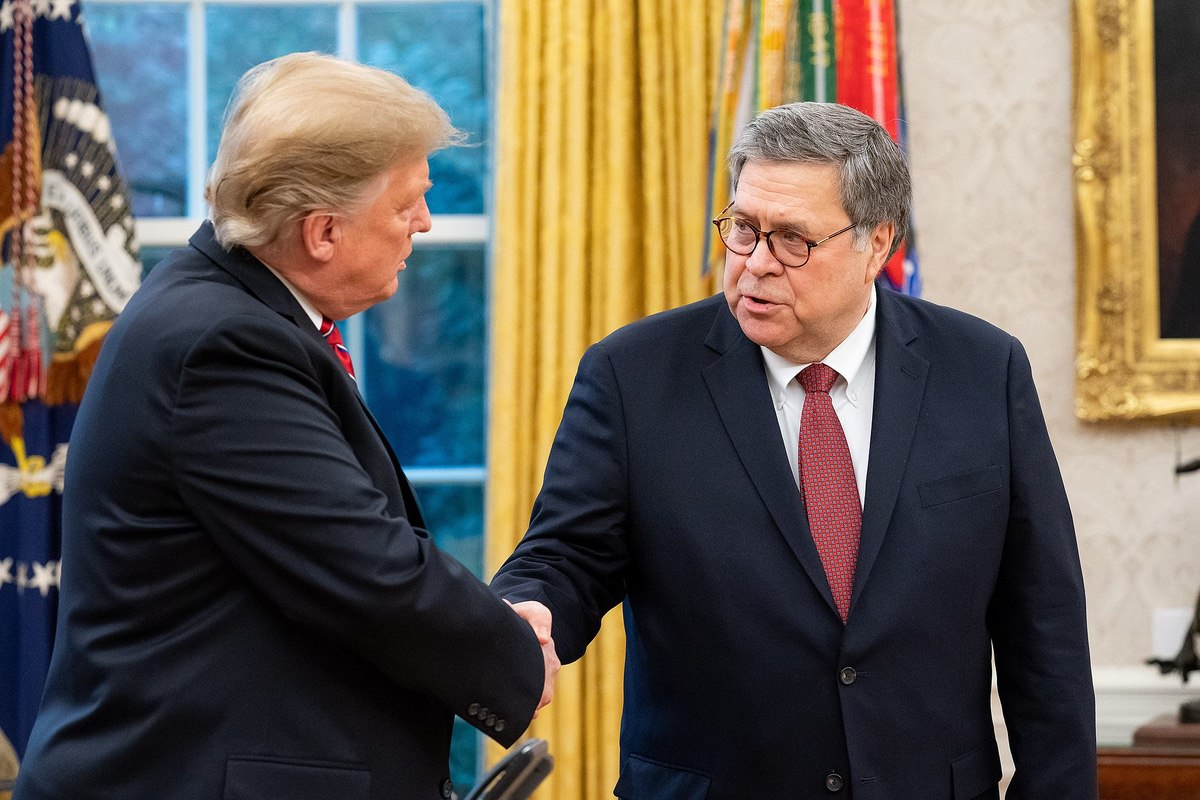 President Donald Trump and Attorney General William Barr – February 14, 2019 (Department of Justice)