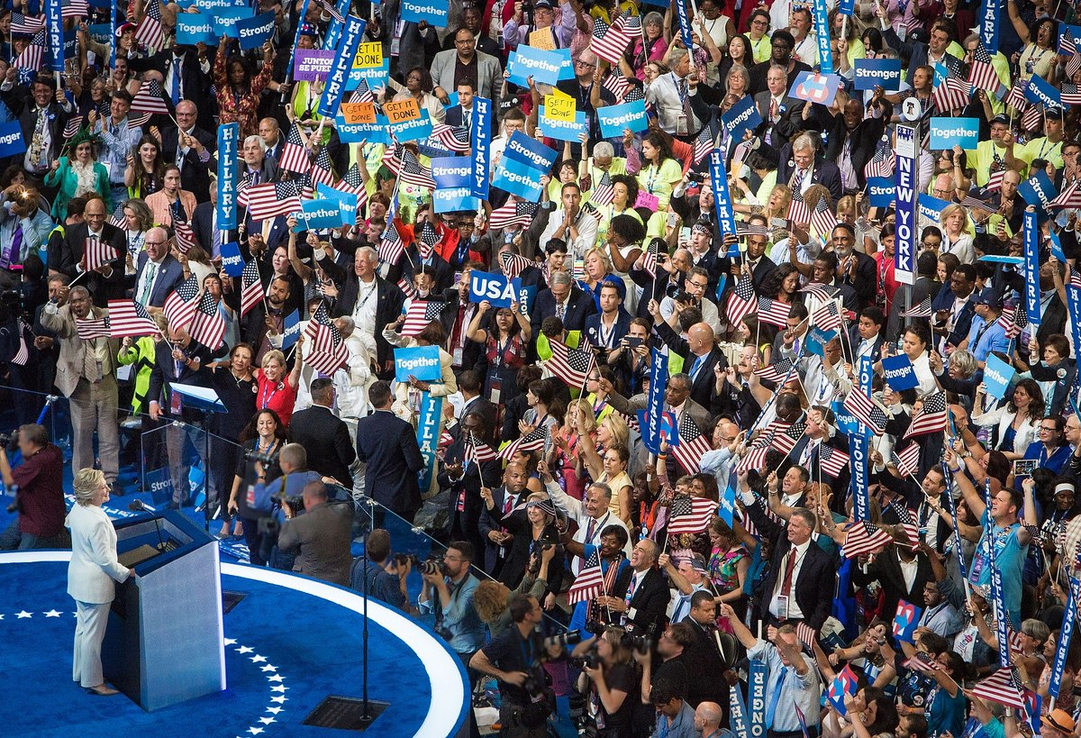 Hillary Clinton Speech at Democratic National Convention – July 28, 2016. (Maggie Hallahan)