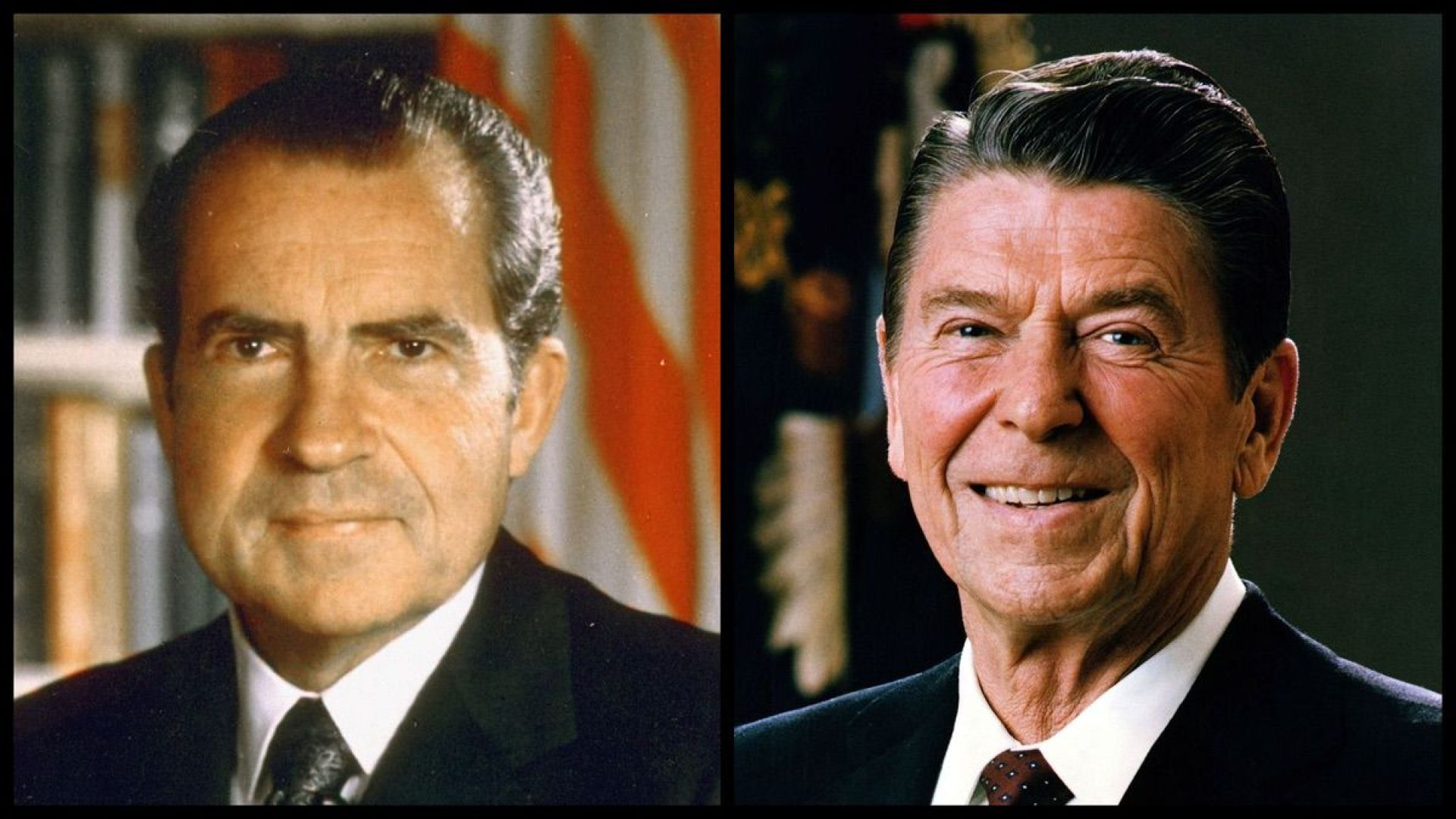 President Richard Nixon and President Ronald Reagan (Official Photos)